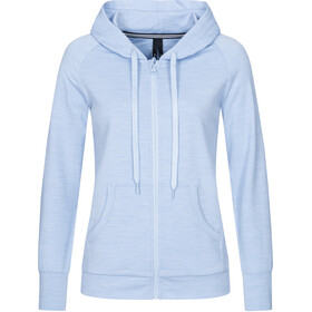 super.natural Essential Zip Hoodie Women skyway melange